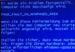 Fehlermeldung am PC